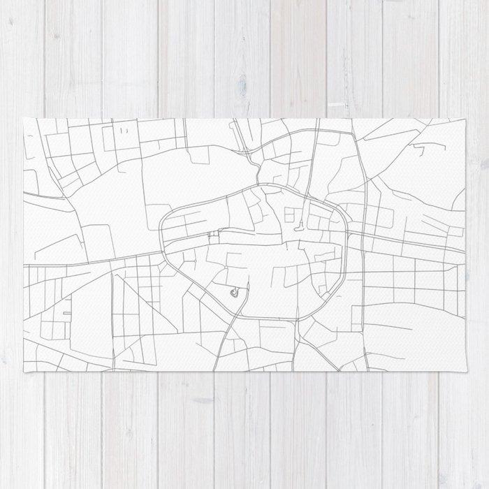Dortmund On Map Of Germany.Dortmund Germany Minimalist Map Rug By Resfeber Society6