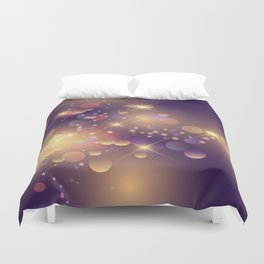 Festive Sparkles in Purple Duvet Cover