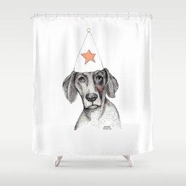 Birthday dog Shower Curtain