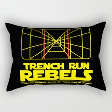 Trench Run Rebels Rectangular Pillow