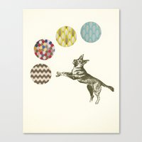 games Canvas Prints featuring Ball Games by Cassia Beck
