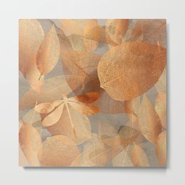 Copper Forest nature, garden art Metal Print