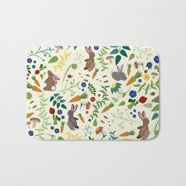 Rabbits In The Garden Bath Mat