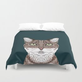 Sidney - Tabby Cat gifts for cat lovers cat ladies and cat person gifts perfect cat cell phone case Duvet Cover