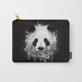Cool Abstract Graffiti Watercolor Panda Portrait in Black & White  Carry-All Pouch
