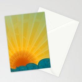 Vintage Ocean Sunset Stationery Cards