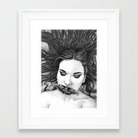 monika strigel Framed Art Prints featuring Silent - Monika Jasnauskaite by Junkie Juice