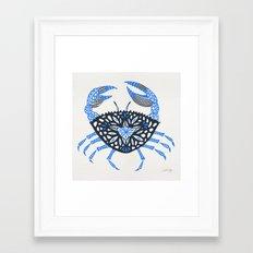 Blue Crab Framed Art Print