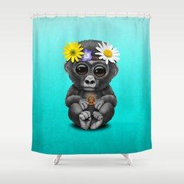 Cute Baby Gorilla Hippie Shower Curtain