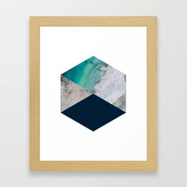 Geometric Ocean inspired Art Framed Art Print