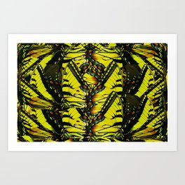Monarch Dreams: Butterfly Wing Collage Art Print