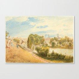 ALT, RUDOLF VON (1812 Vienna 1905) München vom Gasteig aus. Canvas Print