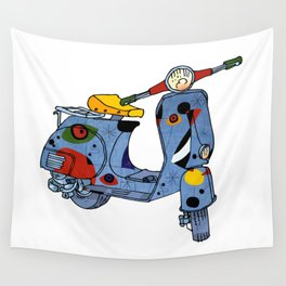 Joan Miró Vespa Scooter,Lyrical, Abstract,Famous painter-Motorcycle Wall Tapestry