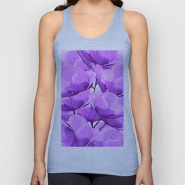 Violet Anemones Spring Atmosphere #decor #society6 #buyart Unisex Tank Top
