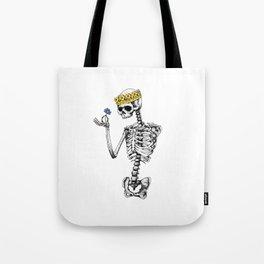 Skeleton King Tote Bag