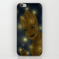groot iPhone & iPod Skins featuring Groot by Camilla Kipp