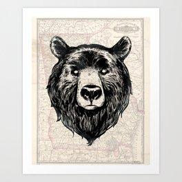 GA bear Art Print