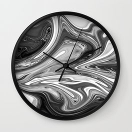 FLUSH - BLACK Wall Clock
