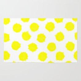 Lemon Drop Polka Dot Bright and Cheery Print Rug