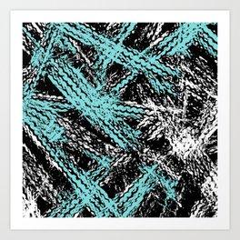 Desert Tracks Teal Art Print