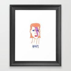 David Bowie Knife Framed Art Print
