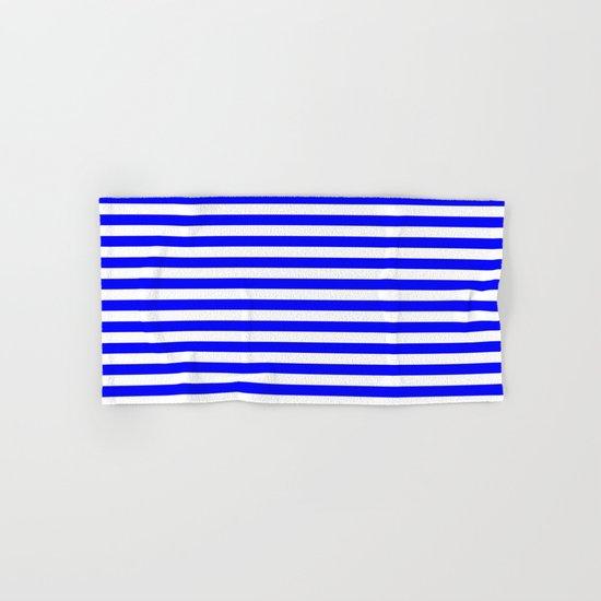 Horizontal Stripes (Blue/White) Hand & Bath Towel