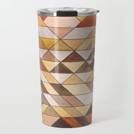 Triangle Pattern Fall Colors Travel Mug
