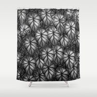 rare Shower Curtains featuring Rare Jungle, Silver Shades by Lindel Caine
