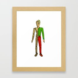 Half man color Framed Art Print