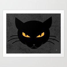 Evil Kitty Art Print