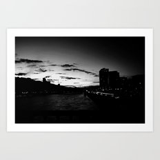 black city.  Art Print