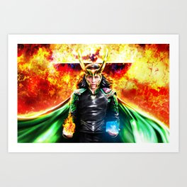 Loki - Ragnarok IV Eternal Flame Art Print