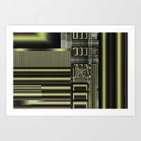 industrial Art Prints featuring Industrial by inkedsandra