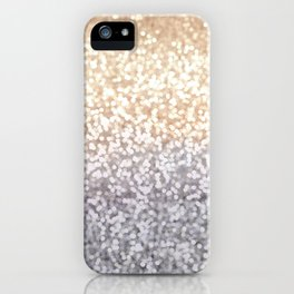 Champagne and Gray Glitter Ombre iPhone Case