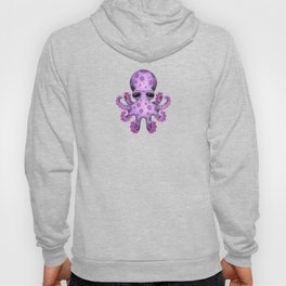 Cute Purple and Blue Baby Octopus Hoody