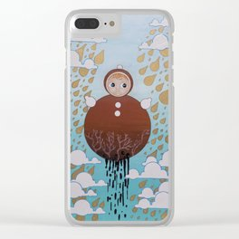 The Roly Poly Doll Clear iPhone Case