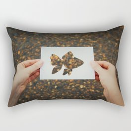 holding golden fish Rectangular Pillow