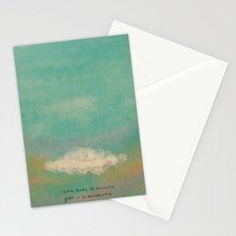 Nube para la melancolía Stationery Cards
