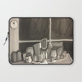 As Time Passes in Black and White Laptop Sleeve