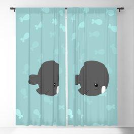 Arctic whales Blackout Curtain