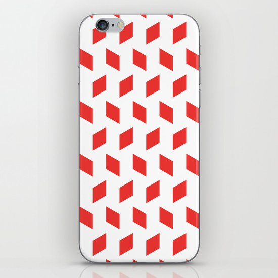 rhombus bomb in poppy red iPhone & iPod Skin