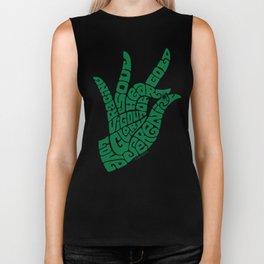 Heart Hand Emerald Green Biker Tank