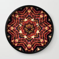 charlie Wall Clocks featuring Charlie by Shereen Yap