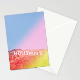 Colorful Hollywood Sign  Stationery Cards