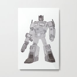 Optimus Black and White Metal Print