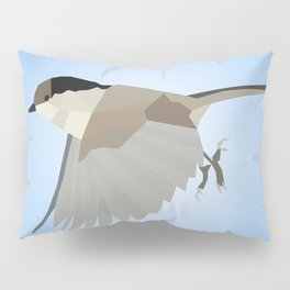WILLOW TIT BIRD LOW POLY ART Pillow Sham