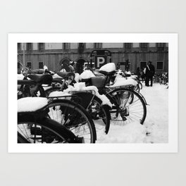 No cycling today Art Print