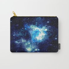 Galaxy NEbula. Teal Turquoise Blue Aqua Carry-All Pouch