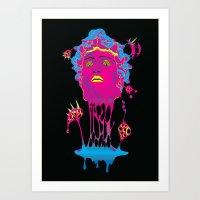 medusa Art Prints featuring Medusa by Mario Sayavedra