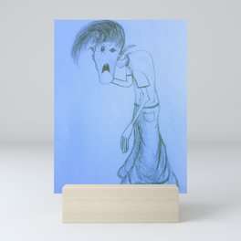 Bell bottom Ghoul boy blue Mini Art Print